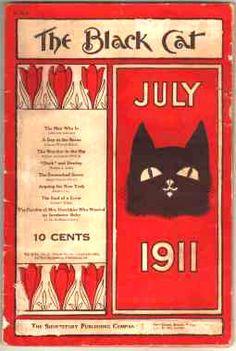 Black Cat-Gallery of art From Clark Ashton Smith's Books' Pulp Magazines