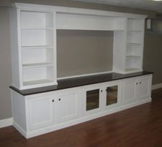 white built in wall unit