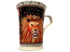 Dunoon Fine Bone China Astrology Coffee Mug, Ruth Beck, Leo The Lion, England, July 23rd - August 23rd #dunoon #astrology #mugs