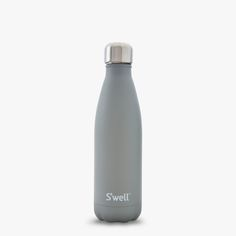S'well Smokey Quartz reusable water bottle from our Stone Collection is coated twice with a durable stone-like texture for added grip.