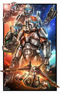 Republic Commando, Shane Molina - Geek World Star Wars Fan Art, Star Wars Concept Art, Star Citizen, Star Wars Clones, Images Star Wars, Star Wars Characters Pictures, Star Wars Clone Wars, Star Trek, Star Wars Brasil