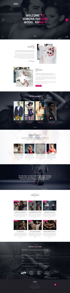 Sexy Joomla Template For Fashion Model Agency                                                                                                                                                      More
