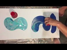 How To Make Fluid Art Ocean Floor Scene with Acrylic Paint Treadmill Silicone & Floetrol - YouTube