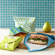 How to Make Reusable Snack Bags & Sandwich Wraps. Just another easy way to go green!