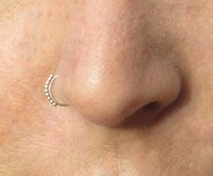 Nose ring Tribal Nose Ring 925 Silver nose by ShirazelohevJewelry