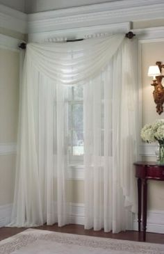 Biege (ivory off white) 2 Pcs. Sheer Voile Window Panel Solid Brand New CURTAIN in Home & Garden, Window Treatments & Hardware, Curtains, Drapes & Valances | eBay