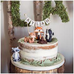48 Ideas Woodland Birthday Party Boy Ideas For 2019 Boys First Birthday Party Ideas, Baby Birthday Cakes, Boy Birthday Parties, Winter Birthday, Baby Cakes, 1 Year Old Birthday Cake, Boy 16th Birthday, Animal Birthday Cakes, Baby Boy First Birthday