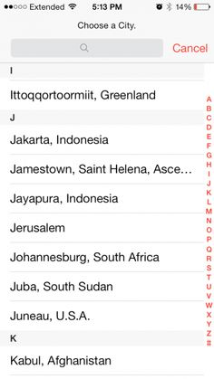 The World Clock on Apple's iOS7 Lists Jerusalem with No Country