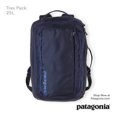 The Tres Pack: 25L. Your new favorite commuter transports everything you need for a productive day and can be used as a backpack, shoulder bag or briefcase.
