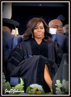 First Lady Michelle R. OBAMA - received the Honorary Doctorate from JACKSON STATE UNIVERSITY in Jackson, Miss. Also was speaker at the 2016 Spring Graduation.  Congrats Dr. Michelle Obama