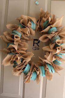 Created Crafty: Mason Jar Wreath