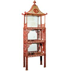 xx tracy porter...poetic wanderlust...- A Rare & Exquisite French Chinoiserie Crystal & Glass Mirrored Vitrine