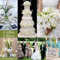 Calla Lily Wedding Theme | http://blog.exclusivelyweddings.com