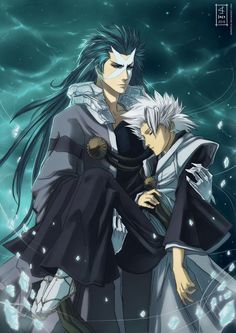 Haven't watched in years but LOVE this. Hyorinmaru and Hitsugaya by AnHellica on deviantART