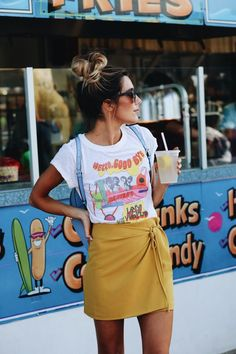 About a Girl: Caitlyn Warakomski wearing graphic tee and wrap skirt- Urban Outfitters – Blog Image source