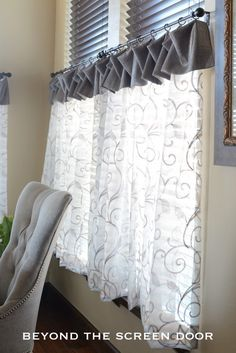 Cafe Curtains For A Breakfast Room with Six Windows | Beyond the Screen Door