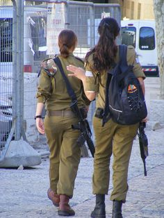 Israeli Soldiers - perhaps not the image the arab world presents!