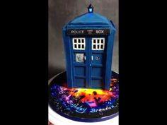 Tardis Cake Tutorial //I WILL make this cake. Birthday present for myself I think.