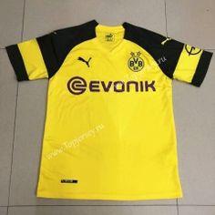 2018-19 Borussia Dortmund Home Yellow Thailand Soccer Jersey AAA Camisetas  De Fútbol 1a3499867cb13