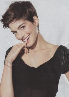 Anne Hathaway pixie - easy short cut for later