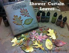 How to make Leaves Tim Holtz Style   Pluckingdaisies.com #Sizzix