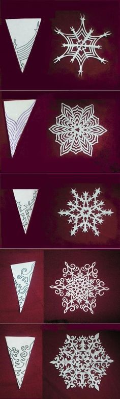 Beautiful snowflakes (templates) / Paper and pencils (scrapbooking, origami, etc.) / SECOND STREET