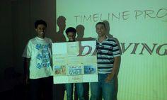 Timeline project. teacher  Huzifa and teacher Ezikeel classroom project