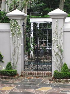 Stylish Fence and Gates for Your InspirationYou can find Iron gates and more on our website.Stylish Fence and Gates for Your Inspiration Front Gates, Entrance Gates, Fence Gates, Wire Fence, Garden Entrance, Garden Gates, Wrought Iron Gates, Gate Design, Garden Inspiration