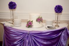 Purple lilac silver and Bling wedding decorations and table scapes diamonds and satin tablecape cake Bling Wedding Decorations, Table Decorations, Table Scapes, Purple Lilac, Diamonds, Wedding Photography, Satin, Cakes, Silver