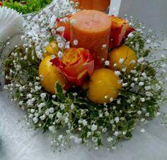 Centrotavola giallo limoni e arancione