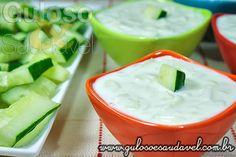 Molho Grego de Iogurte, o Tzatziki » Molhos, Receitas Saudáveis » Guloso e Saudável