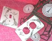 Decorative Switch Plate Hand Painted Paris by parischicboutique. For my Kitchen Paris Room Decor, Paris Rooms, Paris Theme, Bedroom Themes, Girls Bedroom, Bedroom Ideas, Bedrooms, Bedroom Decor, Sweet 16 Decorations