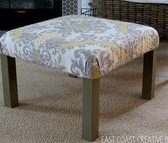 Transform a Lack table into a cute ottoman. | 15 Totally Ingenious IKEA Hacks