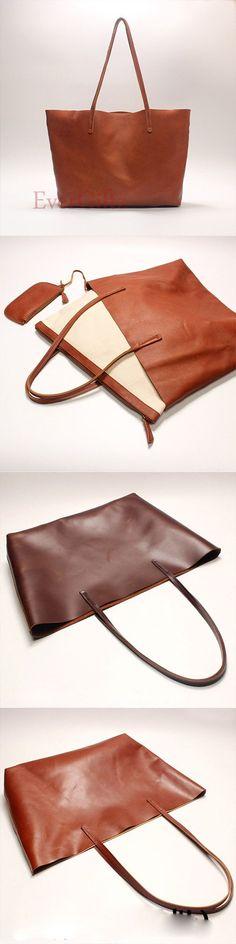 Handmade leather vintage tote women handbag shoulder bag shopper bag