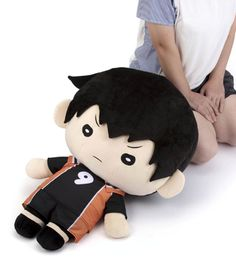 Toho Animation Store Special Giant Nitotan Plush Kageyama Dimensions: **PLEASE NOTE: Due to the size and weight of this item, the only method available will be EMS Tracking due to restrictions from Japan Post. Haikyuu Karasuno, Kageyama Tobio, Haikyuu Anime, Haikyuu Nendoroid, Big Plush, Cute Room Decor, Anime Figurines, Kawaii, Anime Merchandise