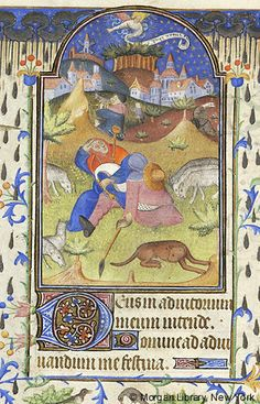 Book of Hours, MS M.157 fol. 63v -  France, ca. 1440 - Shepherds: Annunciation