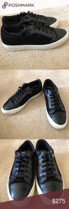 Salvatore Ferragamo Men's Size 8.5 Sneakers Salvatore Ferragamo Men's Size 8.5 Suede and Calfskin Low-Top Sneaker (in GREAT condition) Salvatore Ferragamo Shoes Sneakers