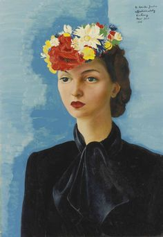 MOISe Kisling Portrait of Madame Judis 1946