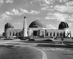 Then:  Griffith Observatory in Griffith Park