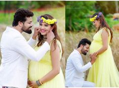 Singer Geetha Madhuri, who is pregnant with her first child, posted photographs of her stunning maternity photoshoot on social media Outdoor Maternity Photos, Maternity Photography Outdoors, Couple Photography Poses, Maternity Pictures, Children Photography, Cute Pregnancy Photos, Couple Pregnancy Photoshoot, Pregnancy Dress, Couple Shoot