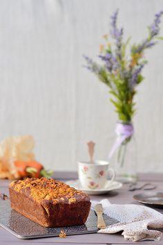 Bizcocho de quinoa con plátano, zanahoria y nueces {receta sin gluten}