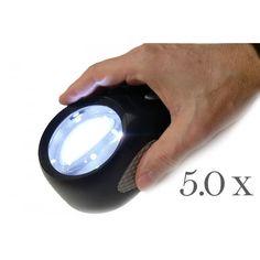 Lupas de Apoyo | Magnicenter | Lupa Estatica de Apoyo 5 x Aumentos Luz LED