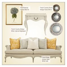 """French Country Decor"" by kathykuohome ❤ liked on Polyvore featuring WALL, Reine, country, livingroom and frenchcountry"