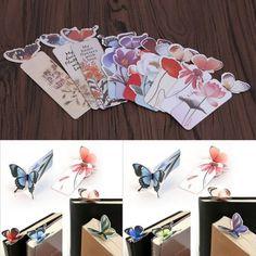 2X Creative Com Desenho De Borboleta Favoritos Clipe de papel Escritório Presente Livro Escolar Marcas