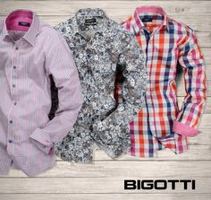 #Stripes, #floral, #checks - the #major #prints of this #season. Discover the #variety of #Bigotti #printed #shirts, suitable for #office or #weekend #outfits! More on http://www.bigotti.ro/noua-colectie