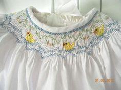 Heirloom easter dresses   Easter Girl Smocked Dress Ducks Infant.