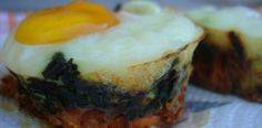 Spinach Sweet Potato Egg Nests