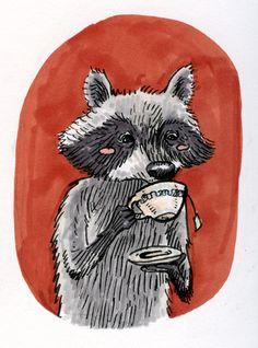 Raccoon / Mapache | von Miss Aoki