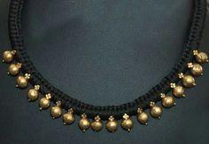 Dori Bridal Jewelry, Beaded Jewelry, Thread Jewellery, Cz Jewellery, Gold Jewelry Simple, Jewelry Patterns, Indian Jewelry, Jewelry Collection, Antique Jewelry