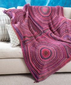 Squared Shades Throw Free Knitting Pattern from Red Heart Yarn